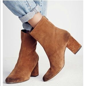Free People Cecile suede ankle boot 39